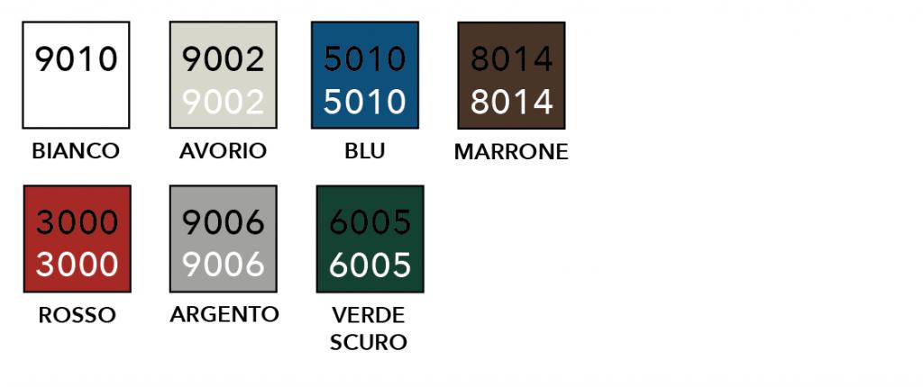 colori ral pannelli garage 2