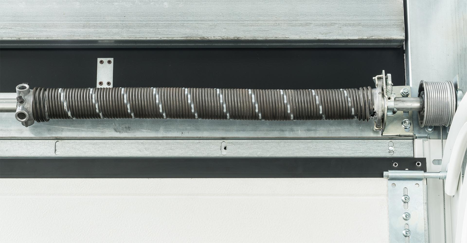 portone verticale con molle a torsione