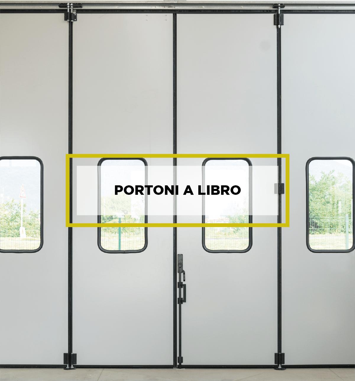 Portoni Industriali a libro Iridium Doors
