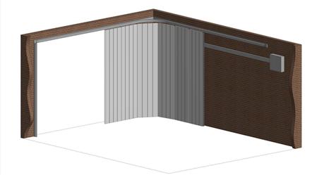 Porte per garage con meccanica a scorrimento laterale