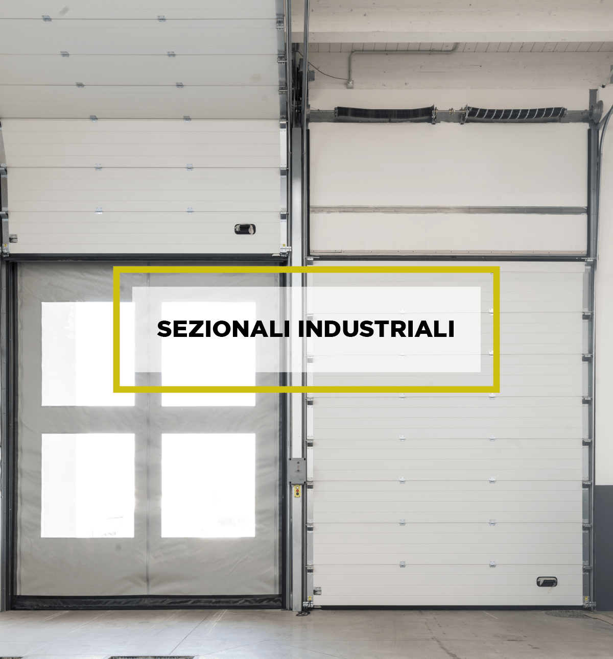 Portoni sezionali industriali per capannoni industriali