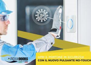 NUOVO PULSANTE NO TOUCH IRIDIUM DOORS